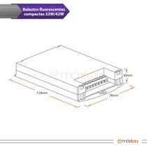 b0411-100-1-balastro-electronico-2x32w-y-2x42w-encendido-rapido-para-lfc-100-305v-magg-diagrama