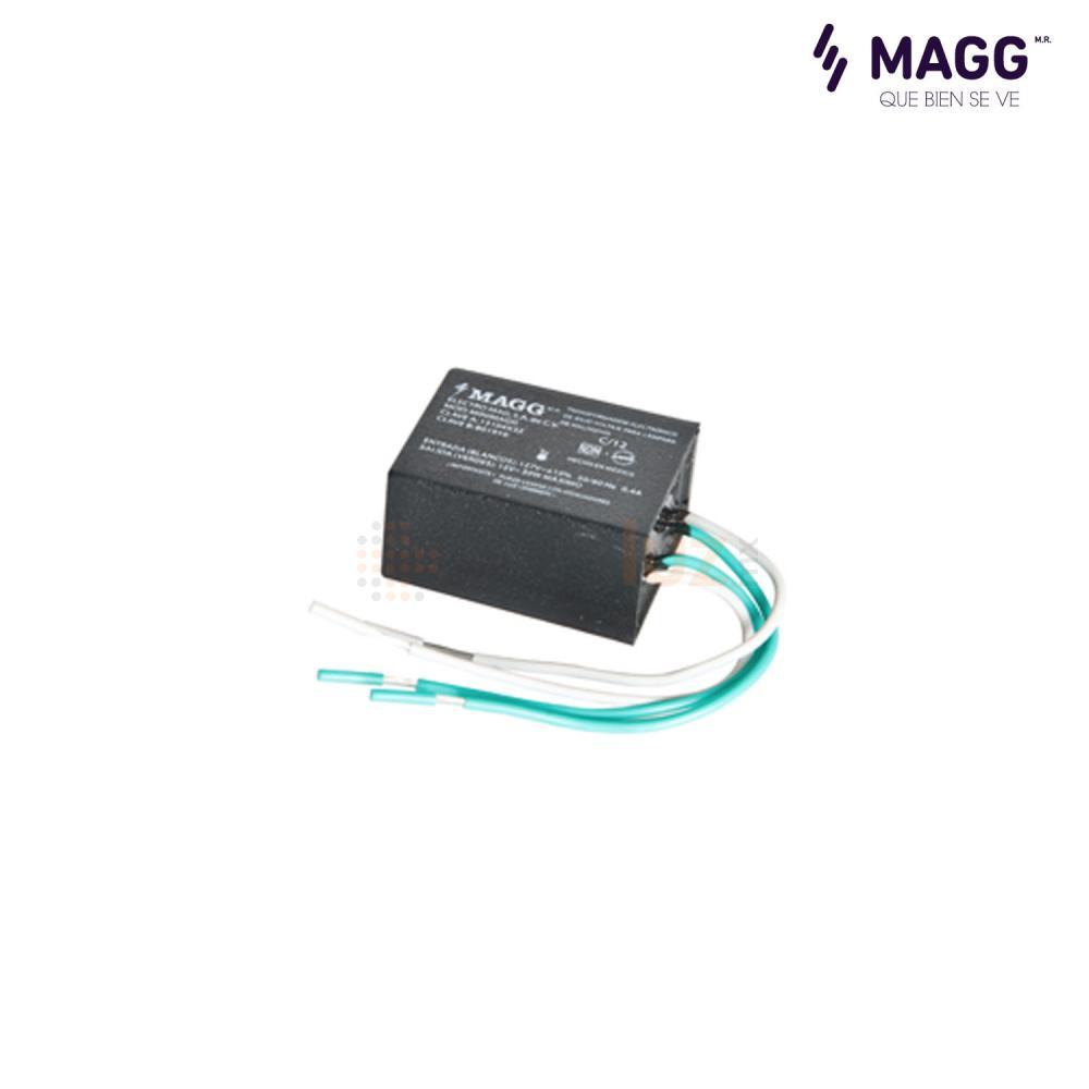 Transformador electr nico minimagg encapsulado 127 12v 50w for Transformador led 12v