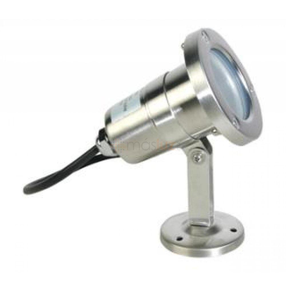 Luminario exterior mr16 35w acero inoxidable 6280 masluz for Focos de iluminacion exterior
