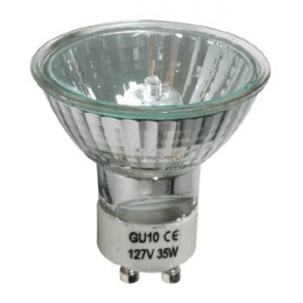 Foco halogeno gu10 130v 35w gu1035w130v masluz - Foco halogeno led ...