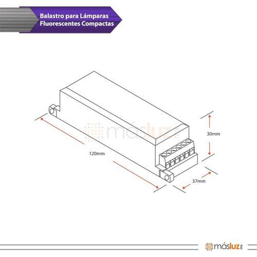b0494-000-1-balastro-electronico-1x13w-encendido-rapido-para-shot-ii-extra-mini-magg-diagrama